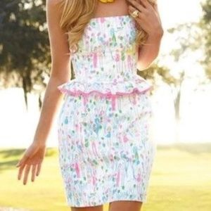 Lilly Pulitzer Pop Lowe strapless dress Holy Grail